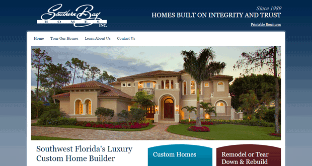Southern bay homes southwest florida custom home builder for Find custom home builder
